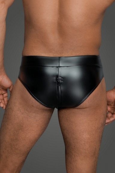 Boxer wetlook avec zip -...