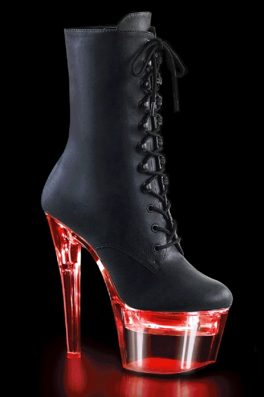 Bottines simili plateforme clignotante - Pleaser
