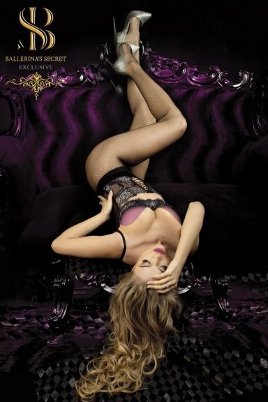 Collant résille noire - Ballerina