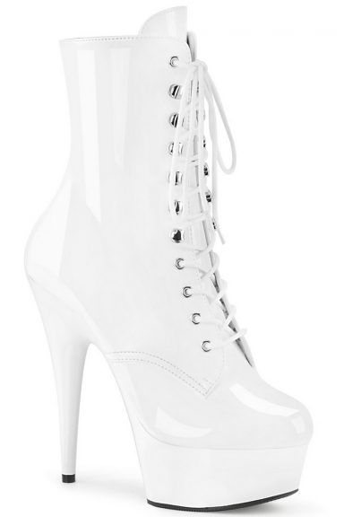Bottines vernies blanches - Pleaser