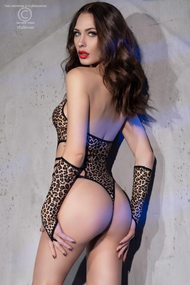 Body léopard avec mitaines...
