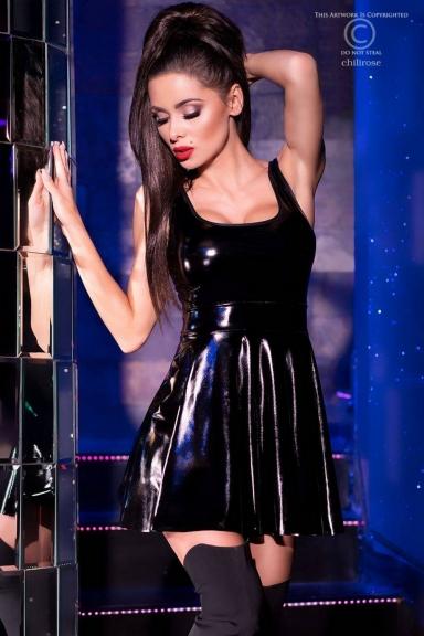 Mini robe évasée effet...