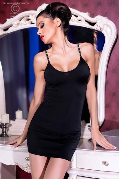 Mini robe noire sexy - Chilirose