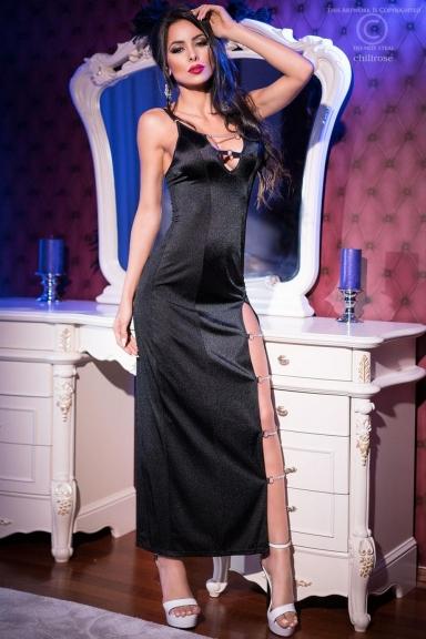 Robe longue fendue clubwear - Chilirose