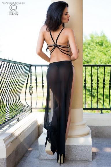 Robe lingerie ouverte - Chilirose