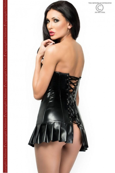 Mini robe corset wetlook - Chilirose