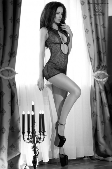 Robe lingerie transparente - Chilirose