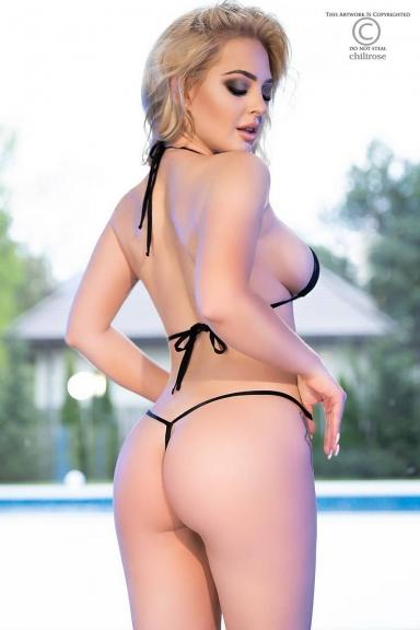 Bikini string noir - Chilirose