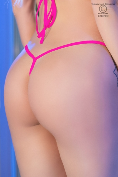 Bikini string ficelle rose - Chilirose