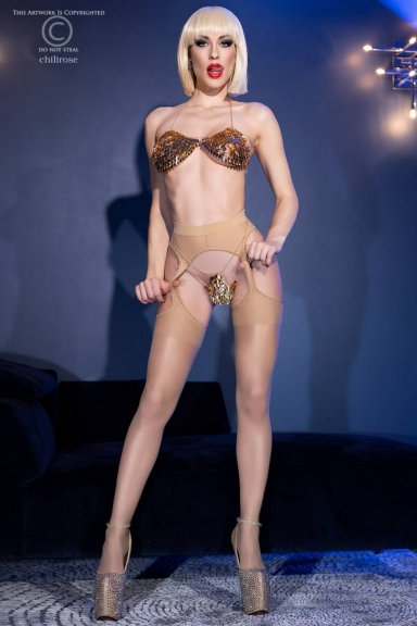 Collant ouvert nude - Chilirose