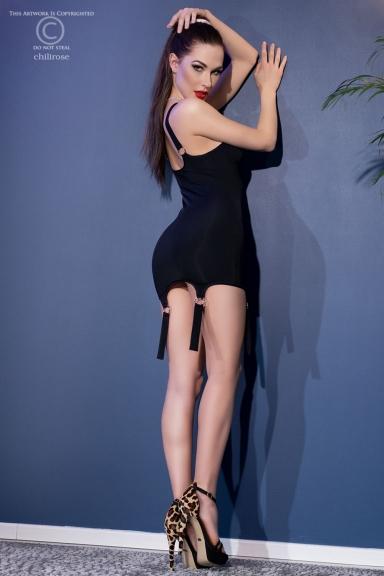 Mini robe noire à...