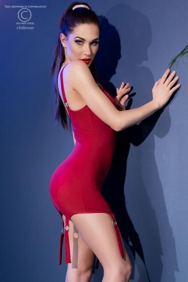 Mini robe rouge à...