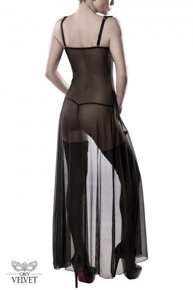 Robe lingerie avec bas - Grey Velvet