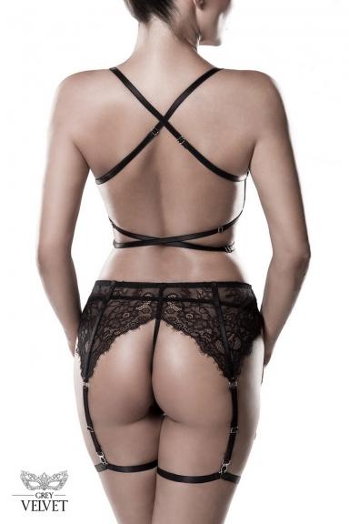 Ensemble de lingerie dentelle harnais - Grey Velvet
